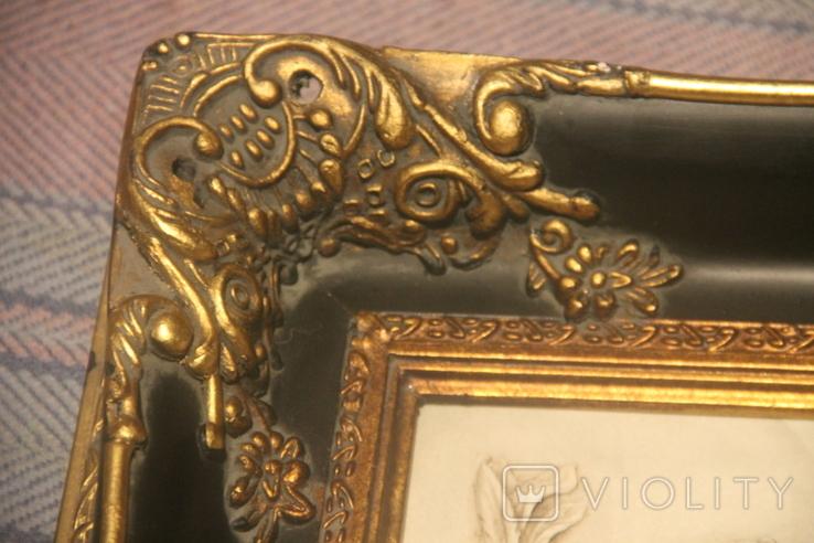 Картина  ,, Античний сюжет ,, Англія. Мраморная крошка. розмір в рамі 42Х37см., фото №3