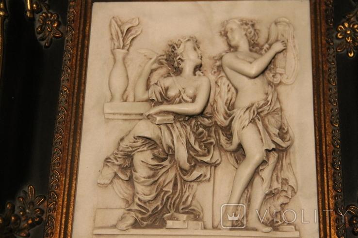 Картина  ,, Античний сюжет ,, Англія. Мраморная крошка. розмір в рамі 42Х37см., фото №7