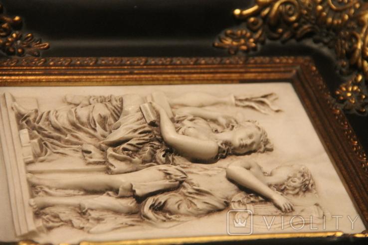 Картина  ,, Античний сюжет ,, Англія. Мраморная крошка. розмір в рамі 42Х37см., фото №8