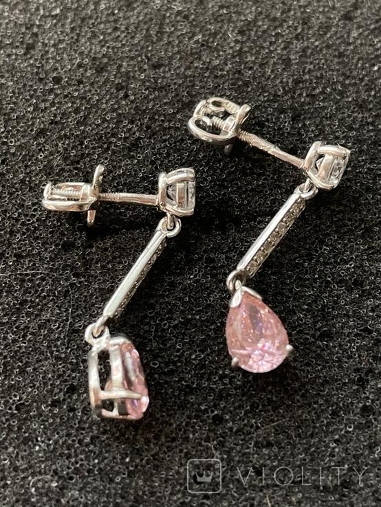 Сережки серебряные, фото №4
