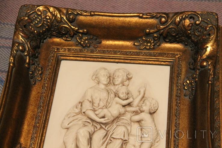 Картина  ,, Античний сюжет ,, Англія. Мраморная крошка. розмір в рамі 42Х37см./, фото №3