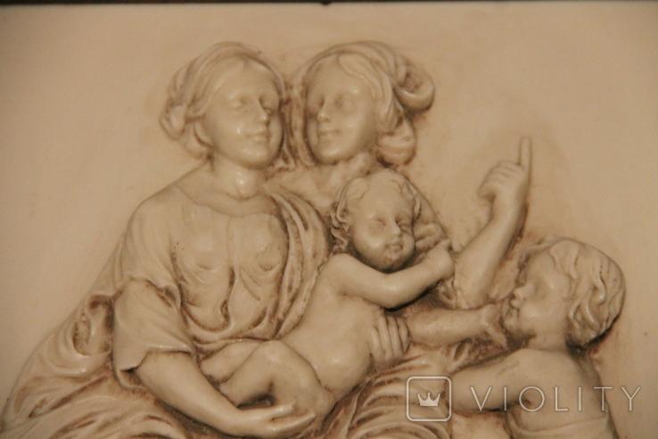 Картина  ,, Античний сюжет ,, Англія. Мраморная крошка. розмір в рамі 42Х37см./, фото №4