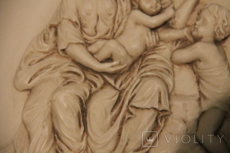 Картина  ,, Античний сюжет ,, Англія. Мраморная крошка. розмір в рамі 42Х37см./, фото №5