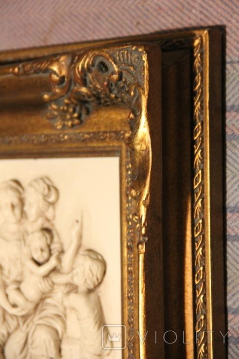 Картина  ,, Античний сюжет ,, Англія. Мраморная крошка. розмір в рамі 42Х37см./, фото №10