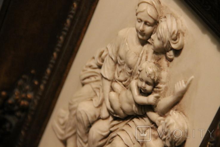 Картина  ,, Античний сюжет ,, Англія. Мраморная крошка. розмір в рамі 42Х37см./, фото №13