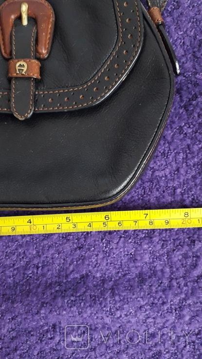 Вінтажна сумочка Etienne Aigner чорного кольору №2, фото №3