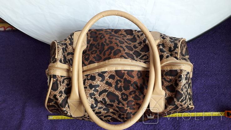 Дорожня сумка Casa di Borse леопардового принту, фото №2