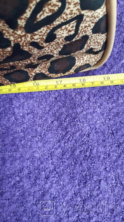 Дорожня сумка Casa di Borse леопардового принту, фото №3