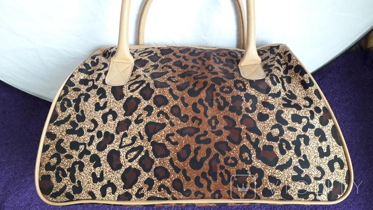 Дорожня сумка Casa di Borse леопардового принту, фото №5