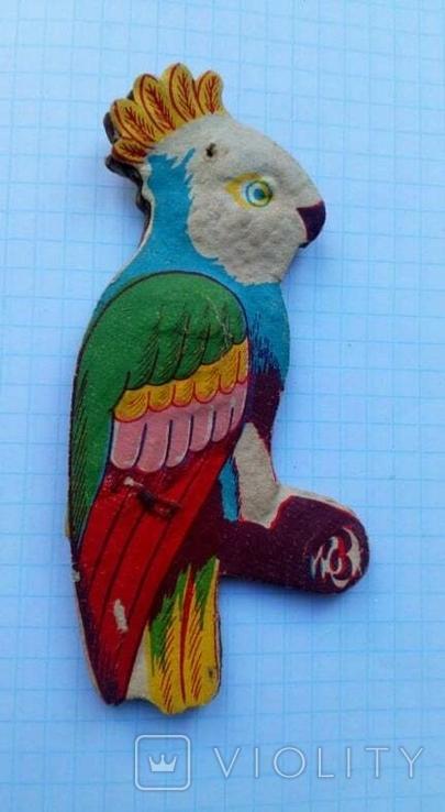 Елочная игрушка Попугай СССР 1960 г., фото №2