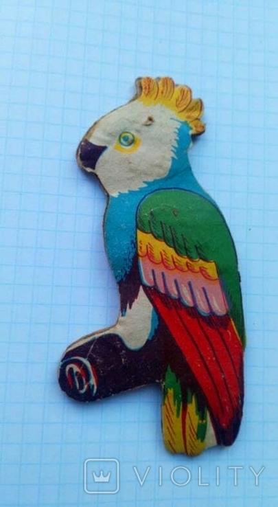 Елочная игрушка Попугай СССР 1960 г., фото №3