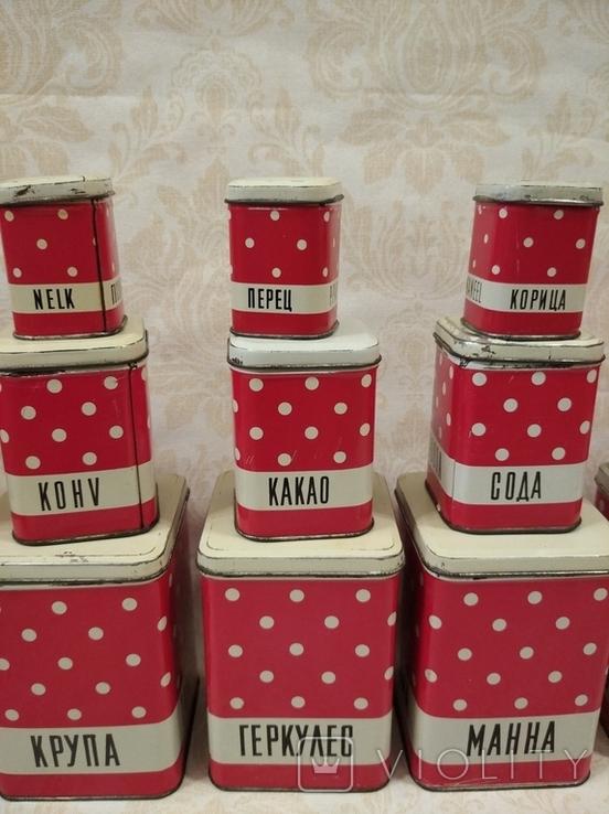 Полный набор банок для кухни, фото №4