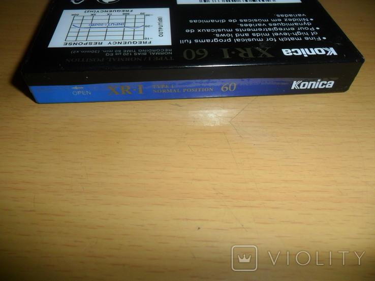 Аудиокассета Konica XR-I 60 новая запечатанная кассета аудио, фото №7