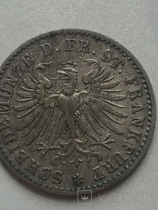 1- крейцер 1866 г Франфурт, фото №6