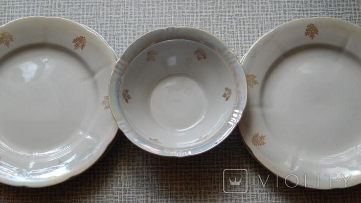 Четыре тарелки и пиала дружковский ф/з, фото №7
