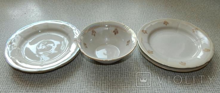 Четыре тарелки и пиала дружковский ф/з, фото №13