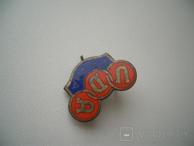 Знак Чехословакия,футбольный клуб 1953-56 гг Прага, фото №3