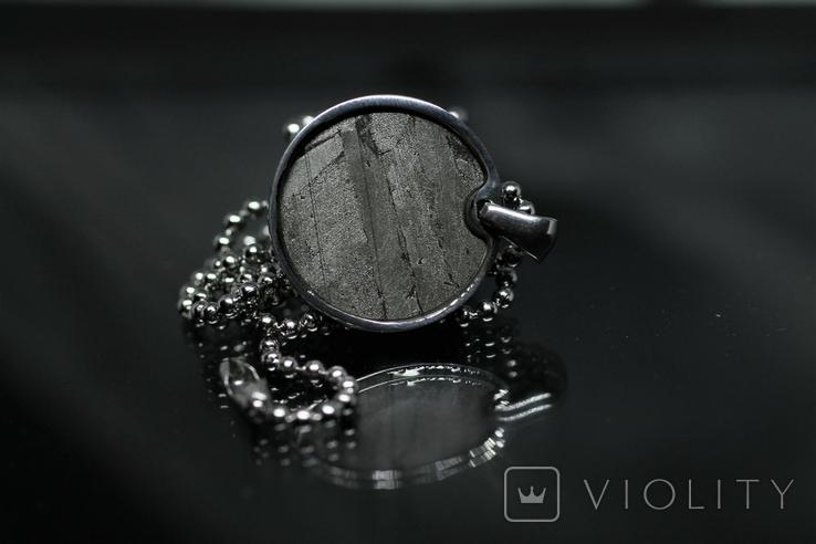 Підвіска із залізо-камяним метеоритом Seymchan, із сертифікатом, фото №8