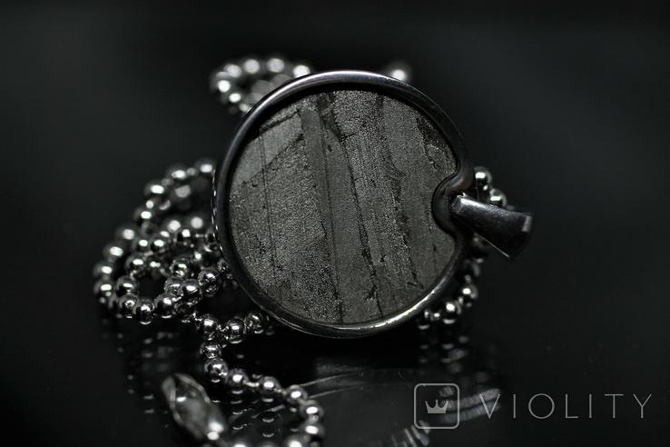 Підвіска із залізо-камяним метеоритом Seymchan, із сертифікатом, фото №10
