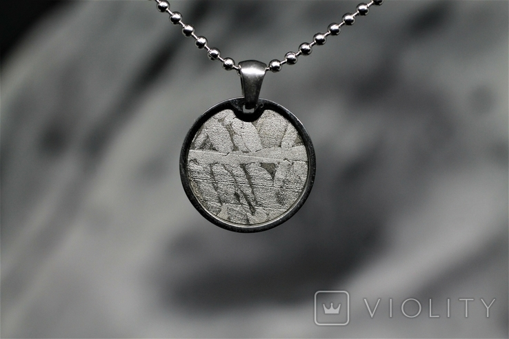 Підвіска із залізо-камяним метеоритом Seymchan, із сертифікатом, фото №4