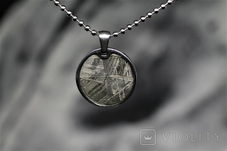 Підвіска із залізним метеоритом Muonionalusta, із сертифікатом автентичності, фото №5
