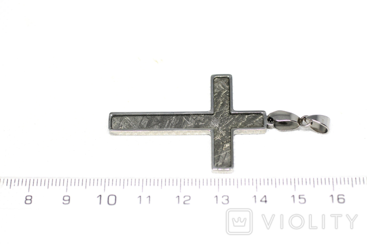 Підвіска-хрестик із метеоритом Muonionalusta, із сертифікатом автентичності, фото №3