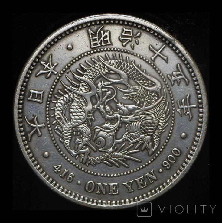 Япония йена 1882 серебро, фото №2