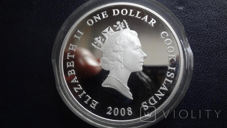 1 доллар 2008 о-ва Кука Ан-2 Кольт серебро+позолота (3.4.3), фото №7