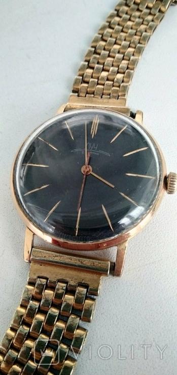 Часы Луч, Au20 + позолоченный браслет