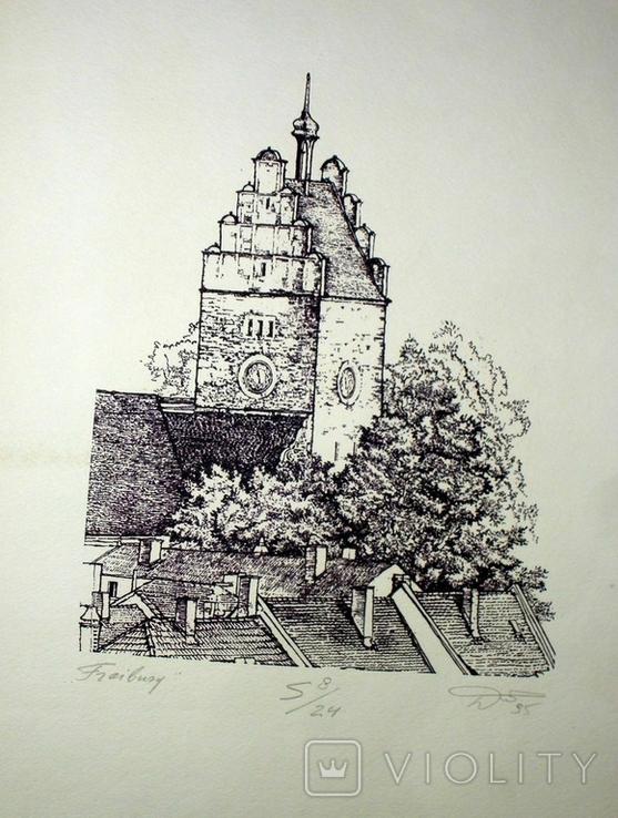 """Картина-графика """"Freiburg"""", фото №2"""