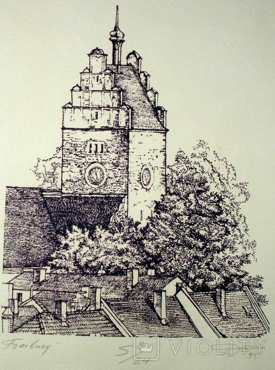 """Картина-графика """"Freiburg"""", фото №3"""