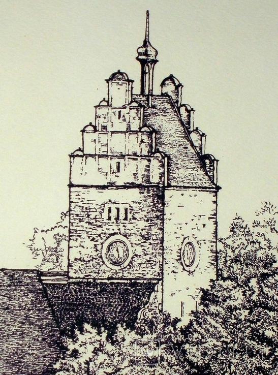 """Картина-графика """"Freiburg"""", фото №4"""