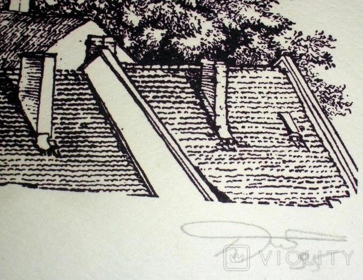 """Картина-графика """"Freiburg"""", фото №5"""