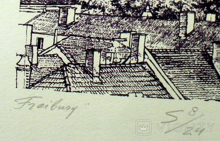 """Картина-графика """"Freiburg"""", фото №6"""