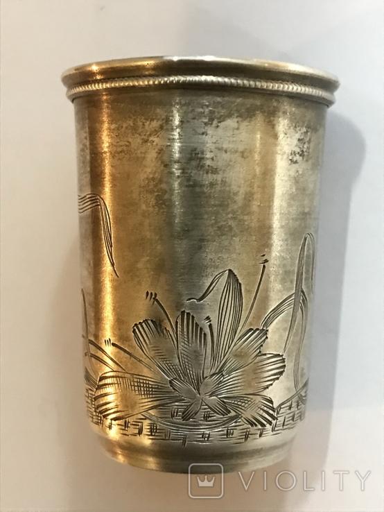 Серебро 84. Пляшка з стопкою на блюдечку., фото №12