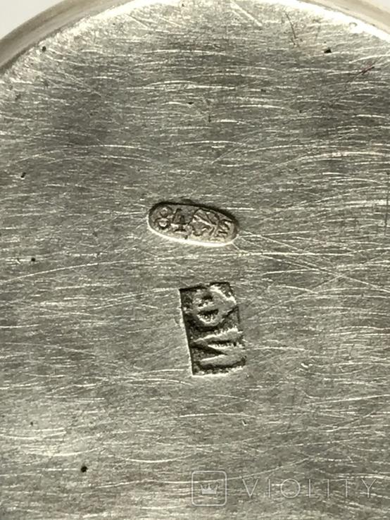 Серебро 84. Пляшка з стопкою на блюдечку., фото №13