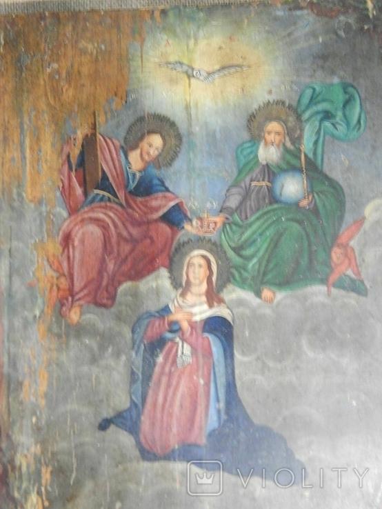 Икона Коронование Пресвятой Богородицы (XIX) в., фото №2