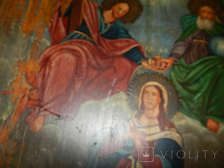 Икона Коронование Пресвятой Богородицы (XIX) в., фото №3