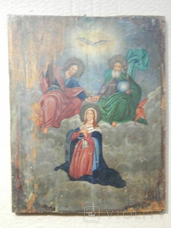 Икона Коронование Пресвятой Богородицы (XIX) в., фото №6
