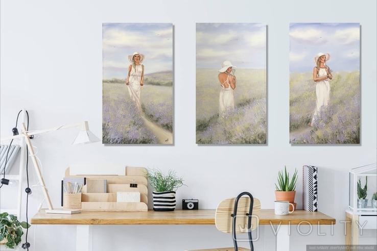 Картина, Аромат лаванды, 60х35 см. Живопись на холсте, фото №10