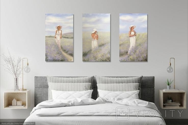 Картина, Аромат лаванды, 60х35 см. Живопись на холсте, фото №11