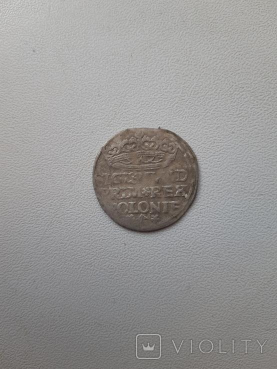 Польский коронный грош 1527 года. Перевертыш. Сохранность хорошая., фото №2