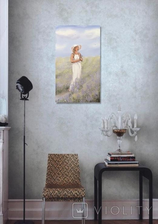 Картина, Благоухание лаванды, 60х35 см. Живопись на холсте, фото №10