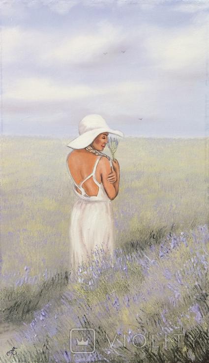Картина, Запах лаванды, 60х35 см. Живопись на холсте, фото №2