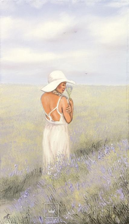 Картина, Запах лаванды, 60х35 см. Живопись на холсте, фото №3