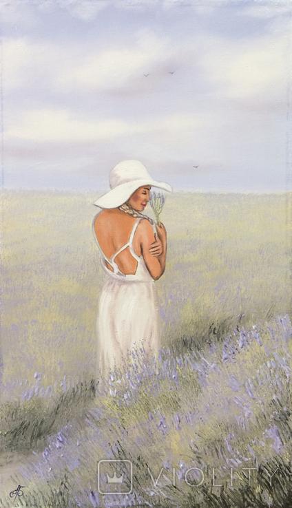 Картина, Запах лаванды, 60х35 см. Живопись на холсте, фото №4
