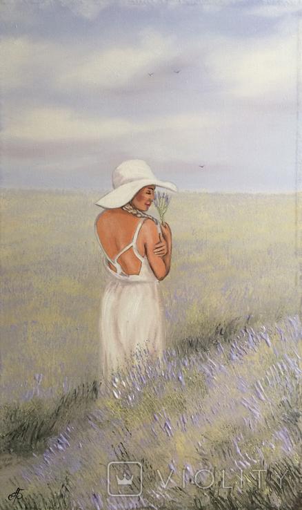 Картина, Запах лаванды, 60х35 см. Живопись на холсте, фото №5