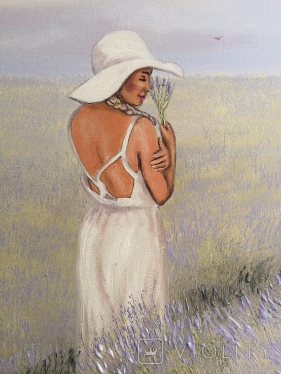 Картина, Запах лаванды, 60х35 см. Живопись на холсте, фото №7