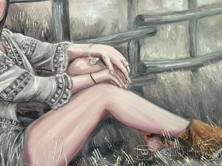 """Картина, """"В стиле Бохо"""", 100х60 см. Живопись на холсте, фото №5"""