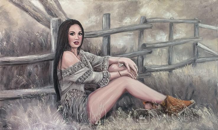 """Картина, """"В стиле Бохо"""", 100х60 см. Живопись на холсте, фото №7"""